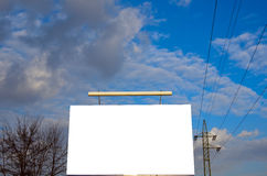 Ad bilboard in a city. Photo of ad billboard in a city stock images