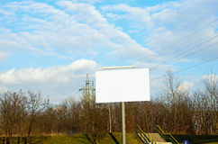 Ad bilboard in a city Royalty Free Stock Image
