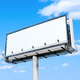 Ad billboard. Big blank white ad billboard stock photo