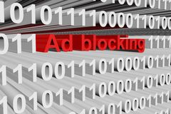 Ad blocking Royalty Free Stock Photos