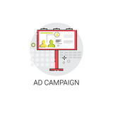 Ad Campaign Content Marketing Optimization Icon. Vector Illustration Stock Photography