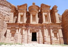 Ad Deir `The Monastery` in Petra, Jordan royalty free stock image
