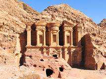 Ad Deir, The Monastery Temple, Petra, Jordan Stock Photos