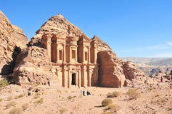 Ad Deir, The Monastery Temple, Petra, Jordan. Ad Deir, The Monastery Temple of Petra, Jordan Stock Photo