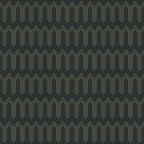 Art Deco Seamless Pattern. Repeating pattern design with art deco motif in anthracite and vintage gold stock illustration