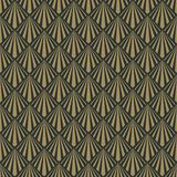 Art Deco Seamless Pattern. Repeating pattern design with art deco motif in anthracite and vintage gold vector illustration