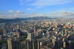 Ad est del isaland di Hong Kong di vista laterale di Kowloon a ICC Fotografie Stock Libere da Diritti