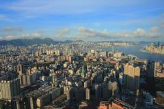 Ad est del isaland di Hong Kong di vista laterale di Kowloon a ICC Immagini Stock