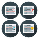 Ad flat circle icons with long shadow Royalty Free Stock Photography