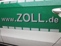 Ad of Germany's customs and excise service: www.zoll.de Royalty Free Stock Photo