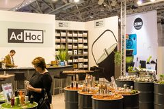 AD HOC on Ambiente Exhibition in Franfkurt Stock Photos
