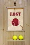 Ad lost tennis ball Stock Image