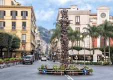 Ad Lucem statue by Matteo Pugliese in Piazza Tasso, Sorrentino. Pictured is the bronze Ad Lucem statue by Matteo Pugliese in Piazza Tasso, Sorrento, Italy.  It Royalty Free Stock Photo