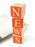 Ad News. Newspaper on white background Royalty Free Stock Images