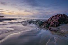 Ad ovest del tramonto dell'Irlanda Fotografia Stock