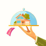 The ad poster. Sale of real estate. Vector illustration Royalty Free Stock Photos