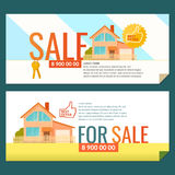 The ad poster. Sale of real estate. Vector illustration Stock Images