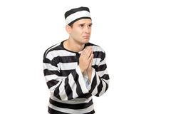 Ad prisoner begging Royalty Free Stock Images