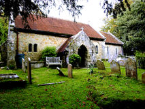 1070 AD St.Boniface church, Bonchurch. The ancient church of St. Boniface dedicated AD 1070 in Bonchurch, Isle of Wight, England, UK Stock Photography