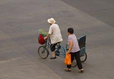 Ad una strada trasversale di Pechino Fotografia Stock Libera da Diritti