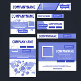 Ad web banner. Vector illustration Stock Images