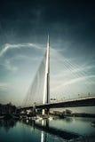 Ada桥梁在贝尔格莱德塞尔维亚 库存照片