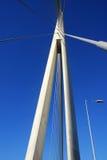 Ada桥梁细节在贝尔格莱德,塞尔维亚耸立 库存照片