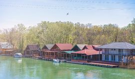 Ada Bojana-Flusslandschaft Lizenzfreies Stockfoto