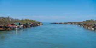 Ada Bojana-Flusslandschaft Lizenzfreies Stockbild