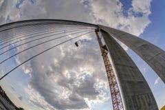 Ada-Brücke auf Fluss Sava, Belgrad, Serbien Stockfoto