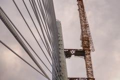 Ada-Brücke auf Fluss Sava, Belgrad, Serbien Lizenzfreie Stockbilder