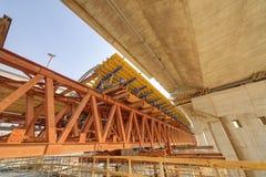 Ada-Brücke auf Fluss Sava, Belgrad, Serbien Lizenzfreie Stockfotos