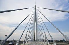 Ada-Brücke belgrad Lizenzfreie Stockfotografie