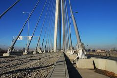 Ada-Brücke in Belgrad Stockbilder