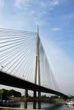 Ada Bridge in Belgrad, Serbien Lizenzfreie Stockfotos