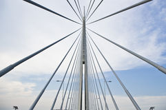 Ada bridge. Belgrade Stock Photo