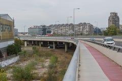 Ada brug in Belgrado royalty-vrije stock afbeeldingen