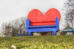 Ada Ciganlija, πάγκος καρδιών Στοκ εικόνες με δικαίωμα ελεύθερης χρήσης