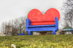 Ada Ciganlija, heart bench Royalty Free Stock Images