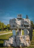 Ada-ciganlija See, stonehenge, HDR-Effekt Stockbilder