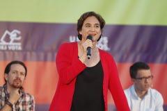 Ada Colau Mayor von Barcelona Lizenzfreie Stockfotos
