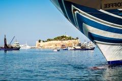 Ada de Guvercin, (ilha do pombo), Kusadasi, Turquia Imagens de Stock Royalty Free