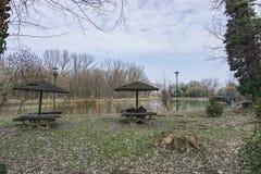 Ada Lake. In Belgrade city Stock Image