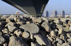 Ada most w Belgrade mieście Fotografia Royalty Free