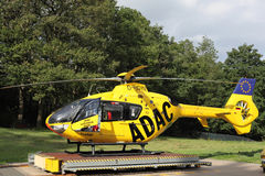 ADAC air rescue helicopter Royalty Free Stock Photography