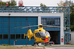 ADAC air rescue helicopter. The ADAC (Allgemeiner Deutscher Automobil-Club e.V.) is Germany's and Europe's largest automobile club, with more than 18 million royalty free stock photos