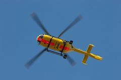 ADAC air rescue helicopter. The ADAC (Allgemeiner Deutscher Automobil-Club e.V.) is Germany's and Europe's largest automobile club, with more than 18 million stock photo