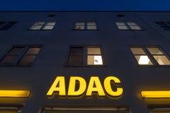 ADAC at night Stock Photo