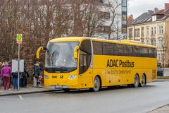 ADAC Postbus - The bus for Germany Stock Photography