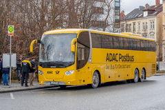 ADAC Postbus - de bus voor Duitsland Stock Afbeelding